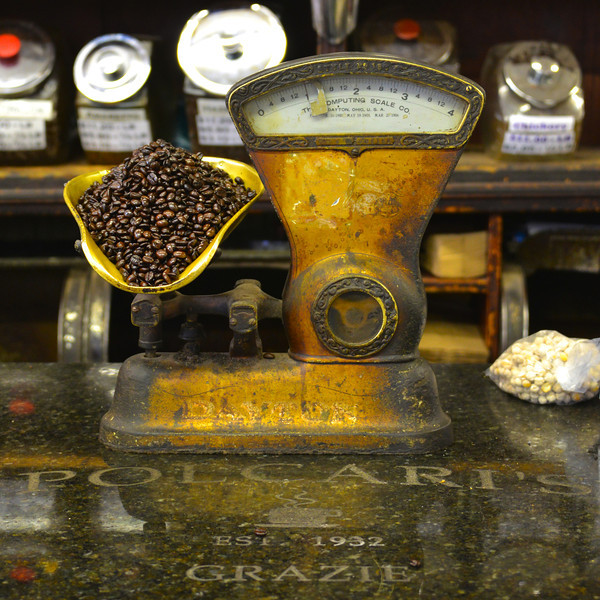 This wonderful old scale is still weighing coffee at Polcari's in Boston's North End.